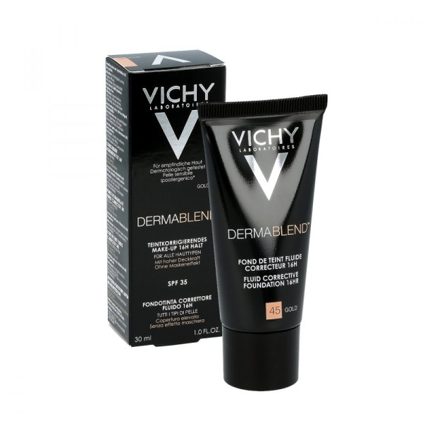 Vichy薇姿修颜持久遮瑕粉底液SPF35 30ml 45号金色