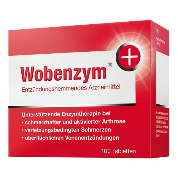德国WobenzymPlus 改善关节肌肉血液循环高纯度酵素