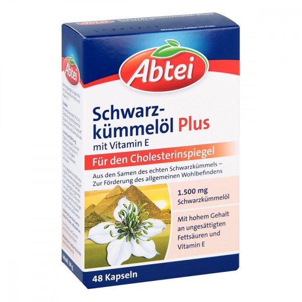 德国Abtei 爱普特降胆固醇清血脂黑籽油胶囊