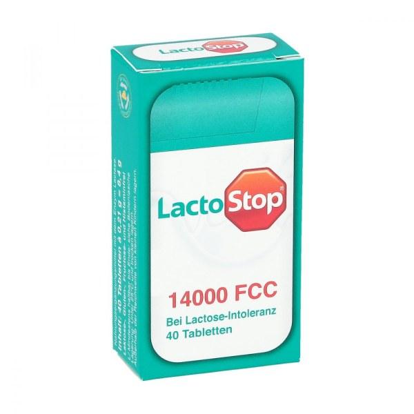 Lactostop 14.000 Fcc乳糖酶营养补充片 乳糖不耐症调节肠道 40片