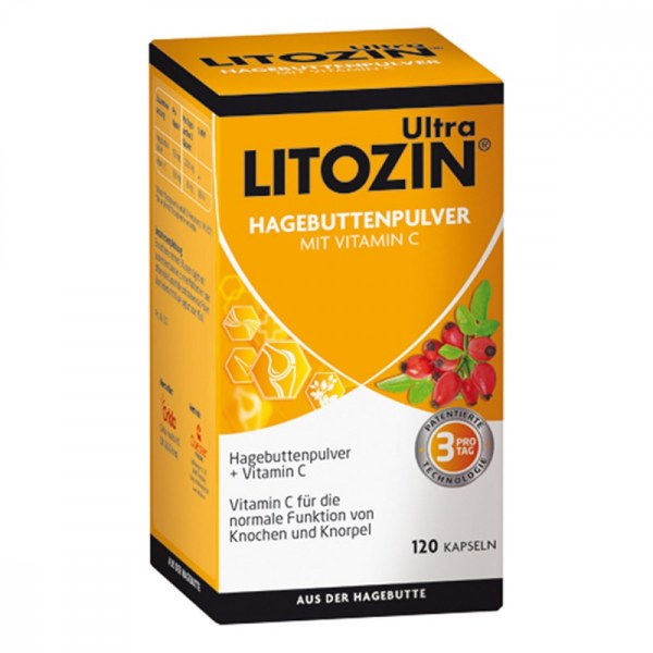 Litozin s 玫瑰果关节强健胶囊(120粒)