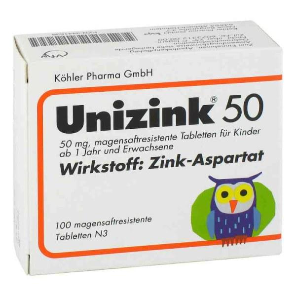德国Unizink 儿童孕妇补锌肠溶片