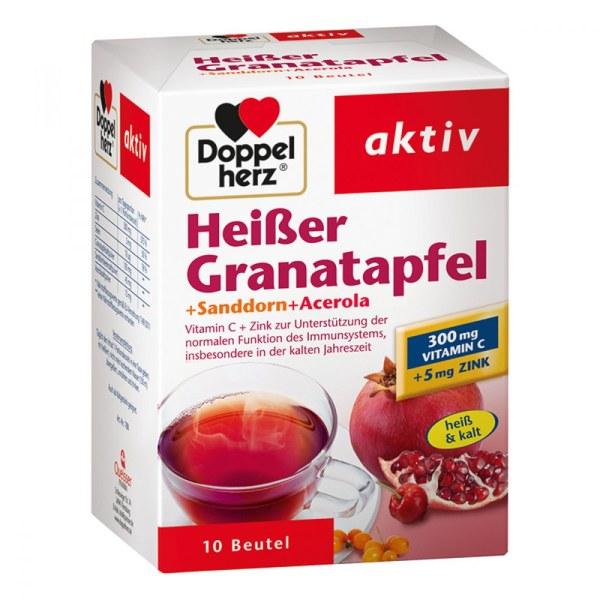 德国Doppelherz 双心石榴+沙棘浆+针叶樱桃热饮