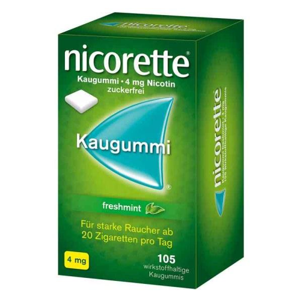 德国NICORETTE 戒烟清爽薄荷味口香糖