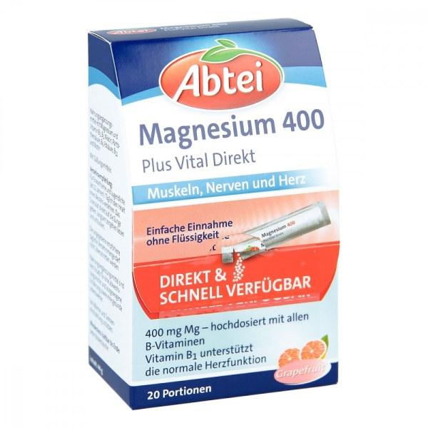 德国Abtei 爱普特镁400+B族维生素复合颗粒
