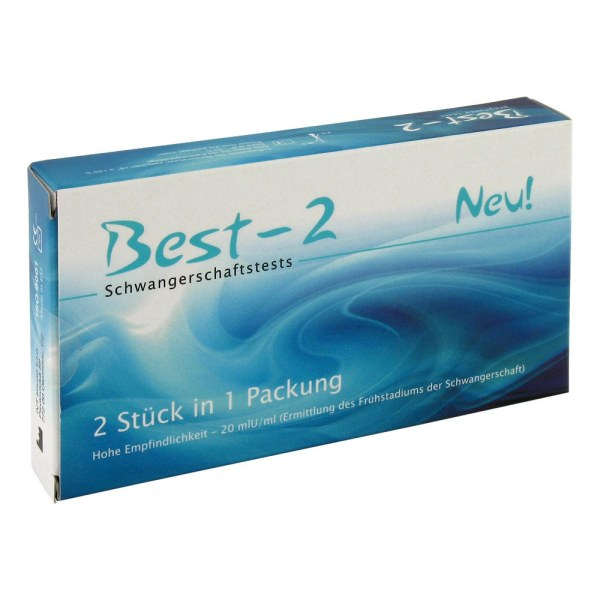 BEST 2 验孕棒 怀孕测试笔 孕期检测 2支