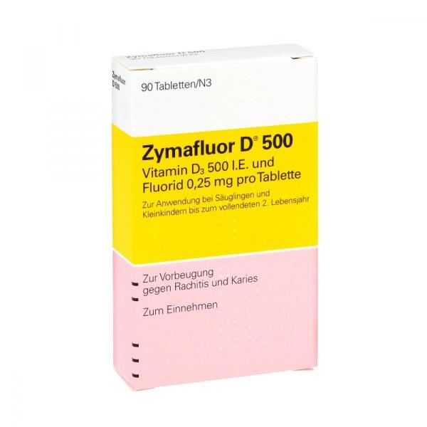 德国Zymafluor 维生素D500营养片
