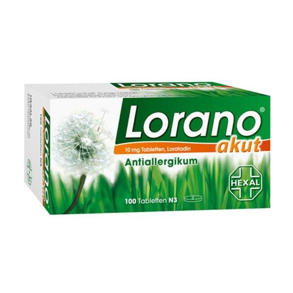 德国LORANO 专治花粉过敏荨麻疹 100粒