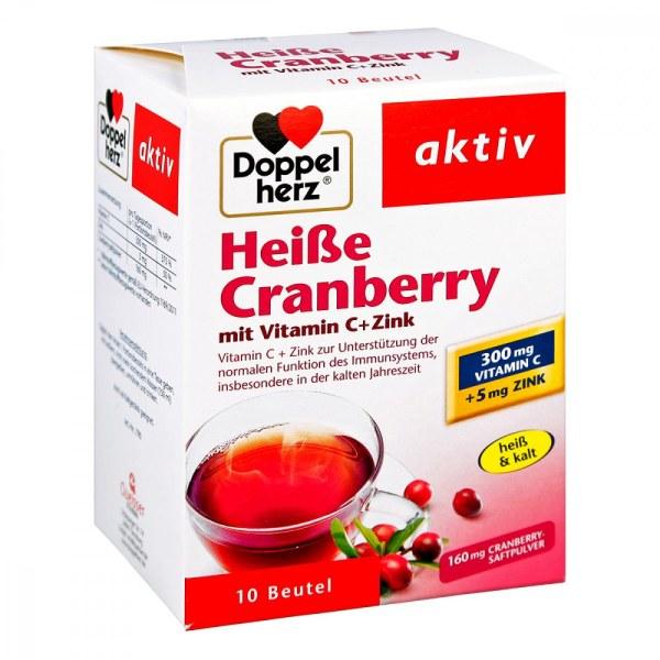 德国Doppelherz 双心蔓越莓维生素C锌冲饮