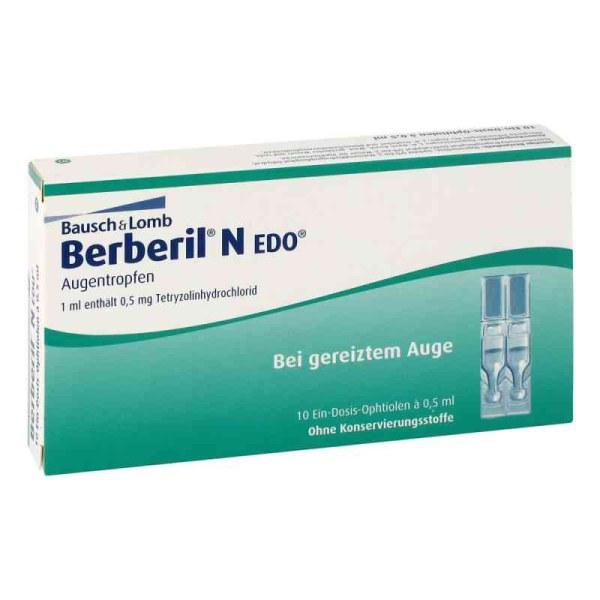 德国BERBERIL EDO缓解疲劳去红丝眼药水 滴眼液 (10X0.5 ml)