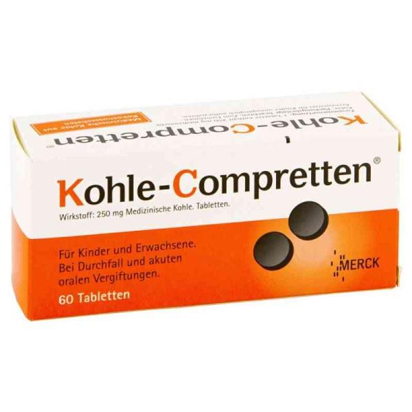 Kohle-Compretten 调理肠胃腹泻拉肚子药片 60片
