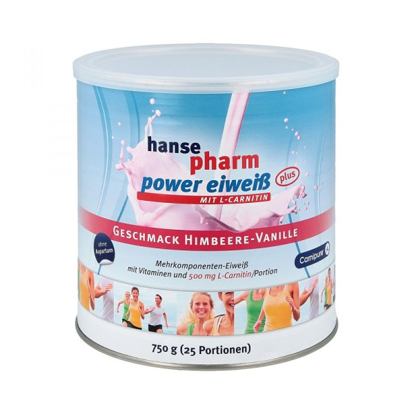 Hansepharm Power Eiweiss plus Himbeere-vanille Plv