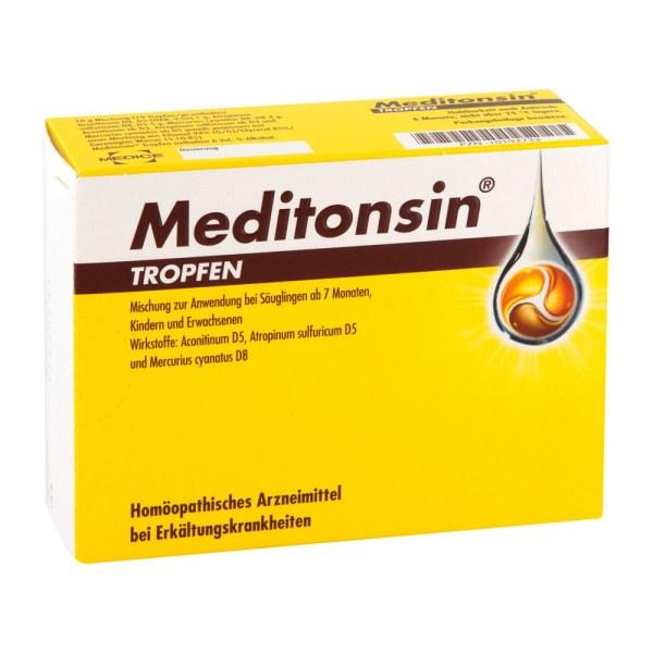 德国Meditonsin天然咽喉炎滴剂 抗咽喉肿痛草本