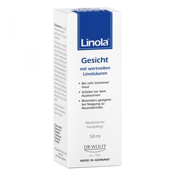 德国Linola婴幼儿成人敏感干燥保湿滋润面霜含亚麻酸油