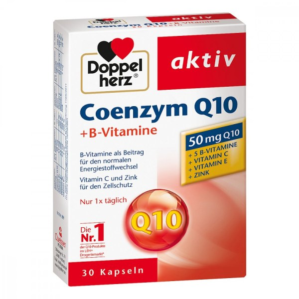 德国Doppelherz 双心辅酶Q10+B族维生素胶囊