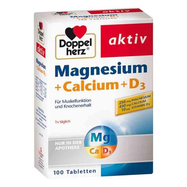 德国Doppelherz 双心缓解疲劳钙镁+D3营养片