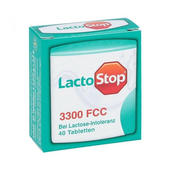 Lactostop 3.300 Fcc 乳糖酶营养补充片 乳糖不耐症调节肠道 40片