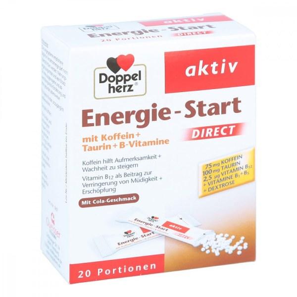 德国Doppelherz 双心咖啡因牛磺酸能量补充剂