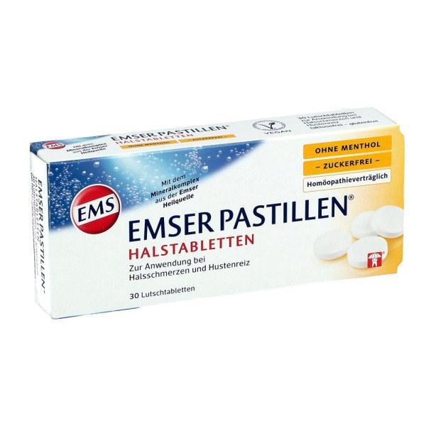 德国EmserPastillen 无糖护嗓润喉含片