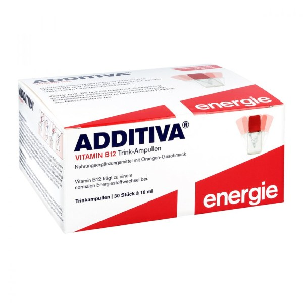 Additiva 营养维他命B12 口服安瓿 提高注意力 橘子味 30瓶