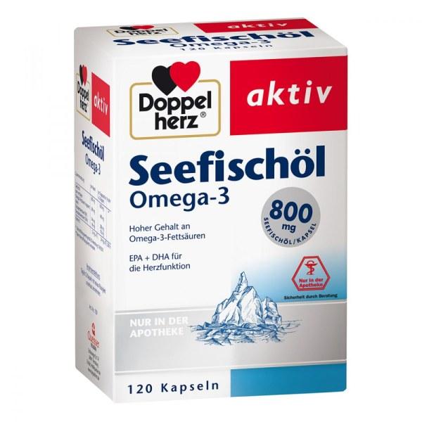 双心深海鱼油 Omega3 800mg 胶囊 120粒