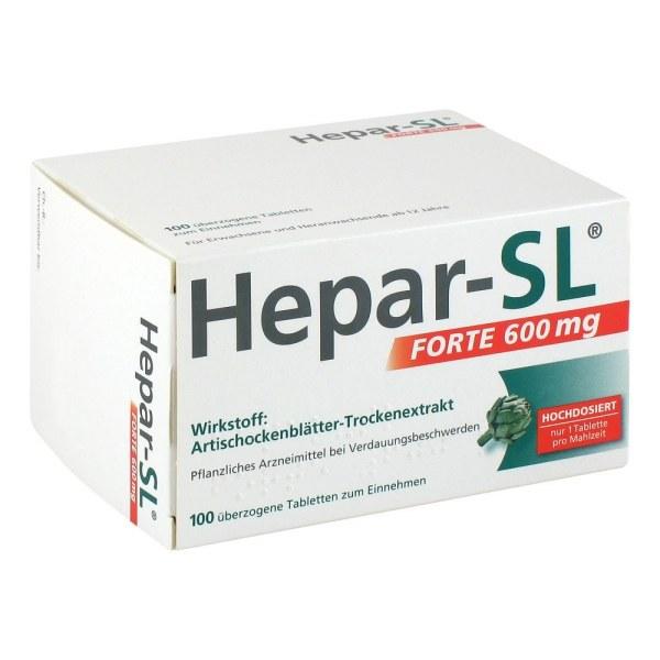 德国 HEPAR 菜薊叶精华消化胀气保护肝胶囊600MG 100粒 (100 stk)