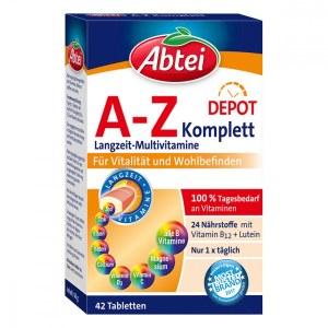 德国Abtei 爱普特A-Z复合维生素+银杏营养片 (42 stk)
