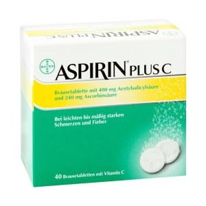 德国AspirinPlus 阿司匹林维生素C泡腾片