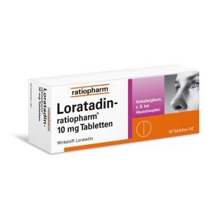 LORATADIN RATIOPHARM 专治过敏荨麻疹花粉症10mg (50 粒)