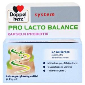 德国 Doppelherz 双心 蛋白奶平衡系统胶囊 成人肠道益生菌平衡瘦身胶囊 调理肠胃  (30 粒)