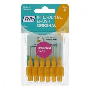 TEPE 精细牙缝刷 0.7MM 黄色6枚