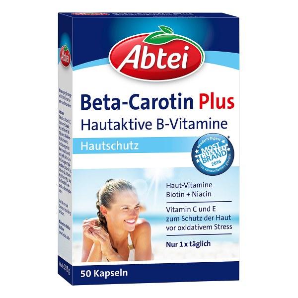 德国Abtei爱普特 β-胡萝卜素+维生素B膳食补充剂 (50 stk)