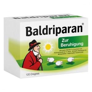 德国Baldriparan全天安神胶囊 纯天然缬草根萃取改善紧张焦虑 球120粒