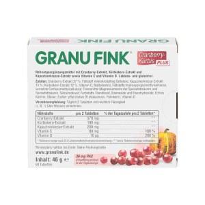Granu Fink 蔓越莓南瓜改善女性泌尿系统保健片