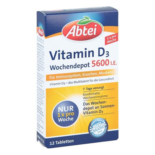 德国Abtei爱普特 维生素D3片 (12stk) 提高免疫力 保持骨骼和肌肉正常功能