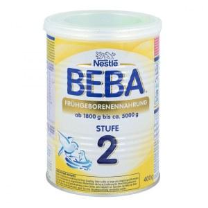 德国Nestle BEBA贝巴早产儿婴幼儿配方奶粉2段