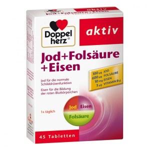 德国Doppelherz 双心叶酸+碘+铁综合营养素