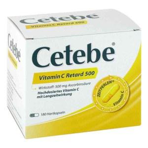 德国Cetebe 维生素C缓释片 增强抵抗力 500mg 180粒
