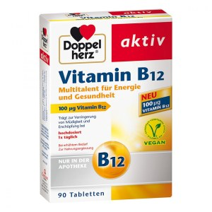 Doppelherz 维生素B12抗疲劳 素食者必备