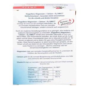 Doppelherz/双心 镁+钙+维生素D冲剂 20包 强健骨骼肌肉