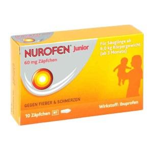 德国Nurofen 诺洛芬儿童退烧栓剂 60毫克