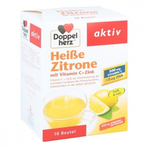 德国Doppelherz 双心柠檬维C+锌颗粒