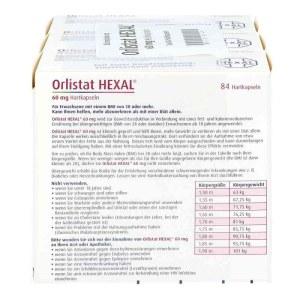 德国OrlistatHexal 赫素特效减肥胶囊