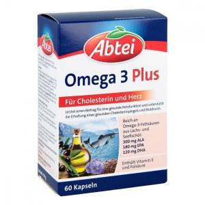 德国Abtei 爱普特深海鱼油Omega-3-6-9+亚麻油+橄榄油胶囊