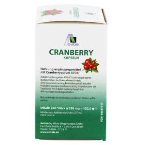 德国Avitale 蔓越莓精400MG华胶囊 保护泌尿系统 提高免疫力  (240 stk)
