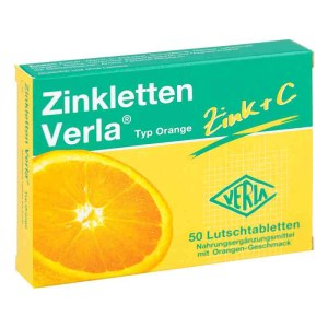 德国ZinklettenVerla 锌+维生素C甜橙味含片