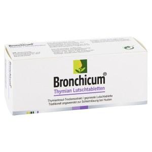 德国Bronchicum百里香润喉化痰含化片