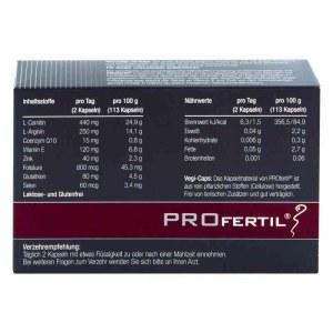 德国ProFertil 男性备孕提高精子活力胶囊 (60粒)