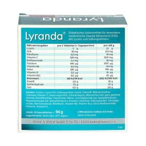 Lyranda 嘴唇泡疹/疮咀嚼片 20粒