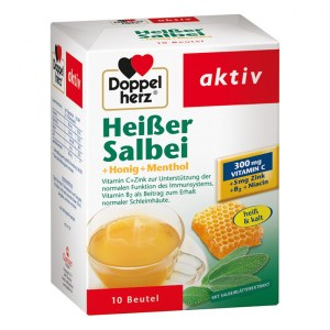 德国Doppelherz 双心纯天然清热去火茶维C冲剂
